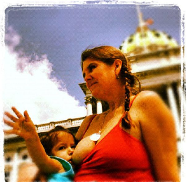 Me, with Zara, in front of the Pennsylvania State Capitol building, where Birth Without Boundaries advocated for and helped pass a law that protects women from being harassed for breastfeeding in public